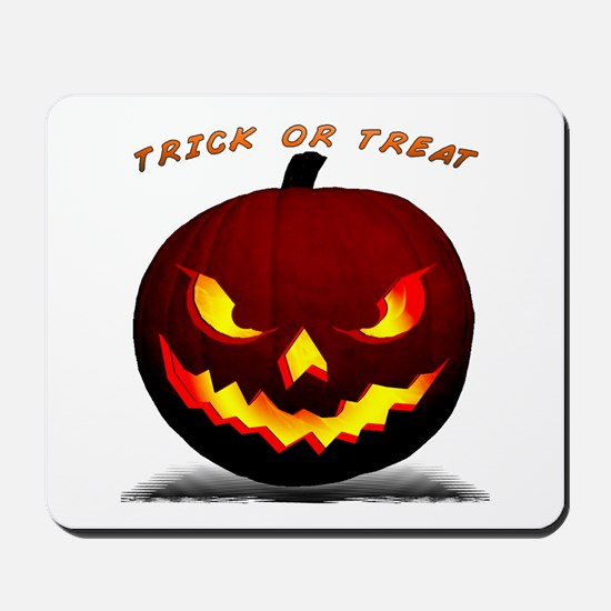 Scary Halloween Pumpkin Mousepad