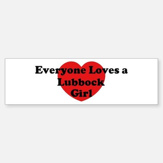 Lubbock girl Bumper Bumper Bumper Sticker