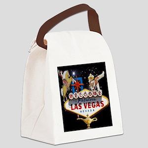 Las Vegas Icons - Las Vegas Welco Canvas Lunch Bag