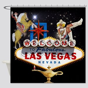 Las Vegas Icons - Las Vegas Welcome Shower Curtain
