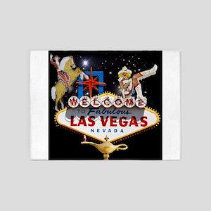 Las Vegas Icons - Las Vegas Welcome 5'x7'Area Rug