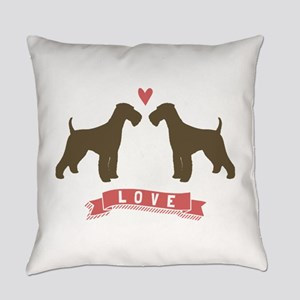 Airedales Love Everyday Pillow
