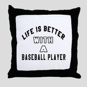 Baseball Player Designs Throw Pillow