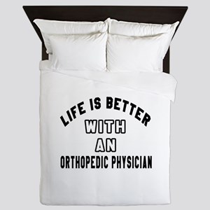 Orthopedic Physician Designs Queen Duvet