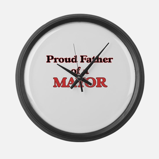 Proud Father of a Mayor Large Wall Clock