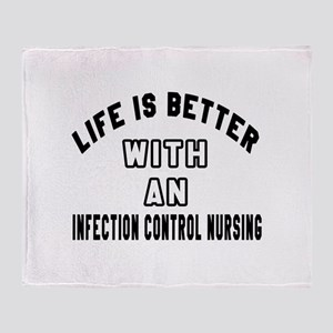Infection Control Nursing Designs Throw Blanket