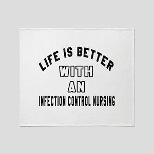 Infection Control Nursing Designs Throw Blanket
