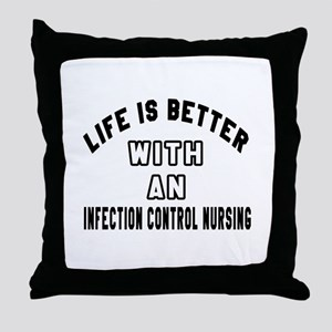 Infection Control Nursing Designs Throw Pillow