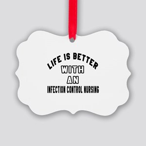 Infection Control Nursing Designs Picture Ornament