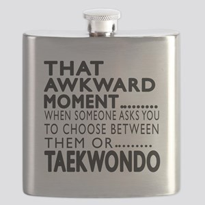Taekwondo Awkward Moment Designs Flask