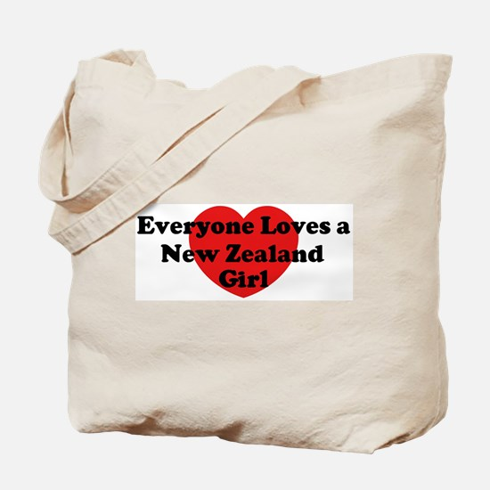 New Zealand girl Tote Bag