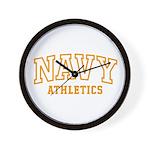 NAVY ATHLETICS Wall Clock