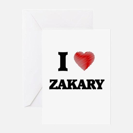 I love Zakary Greeting Cards