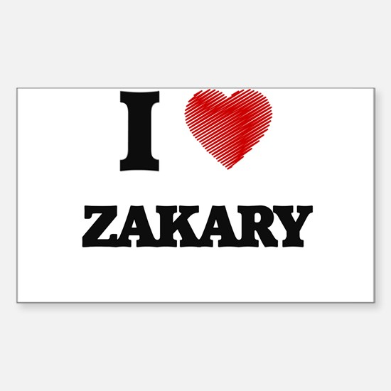 I love Zakary Decal