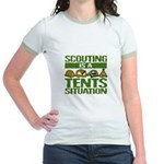 SCOUTING - TENTS Jr. Ringer T-shirt