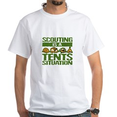 SCOUTING - TENTS White T-Shirt