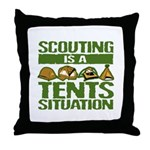 SCOUTING - TENTS Throw Pillow
