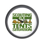 SCOUTING - TENTS Wall Clock
