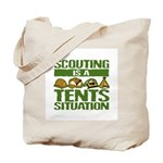 SCOUTING - TENTS Tote Bag