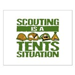 SCOUTING - TENTS Small Poster