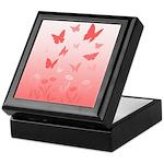 Canadian Landscape Butterfly Art Wooden Tile Box