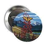 Canadian Landscape Butterfly Button