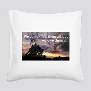 Owe Them All Square Canvas Pillow