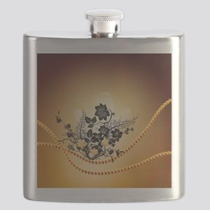 Beautiful black flowers Flask