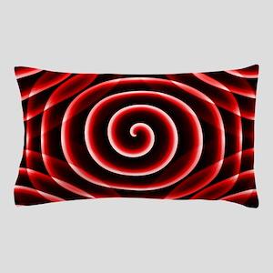 Red Spiral Pillow Case