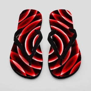 Red Spiral Flip Flops