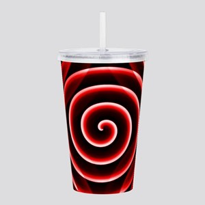Red Spiral Acrylic Double-wall Tumbler