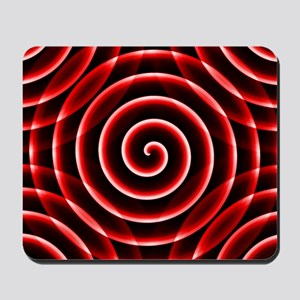 Red Spiral Mousepad
