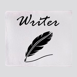Writer Quill Throw Blanket
