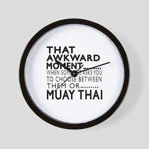 Muay Thai Awkward Moment Designs Wall Clock
