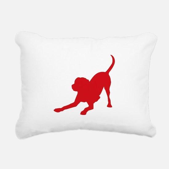 Lab 1C Red Rectangular Canvas Pillow