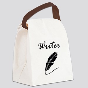 Writer Quill Canvas Lunch Bag