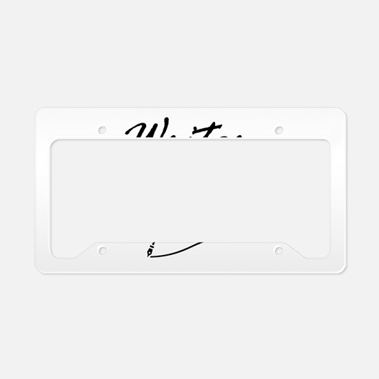 Writer Quill License Plate Holder