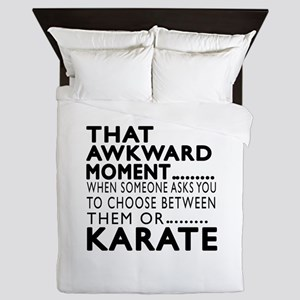 Karate Awkward Moment Designs Queen Duvet