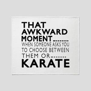 Karate Awkward Moment Designs Throw Blanket