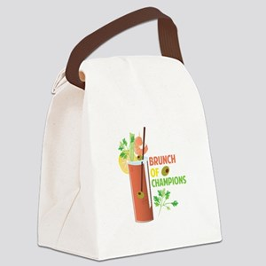 Brunch Of Champions Canvas Lunch Bag