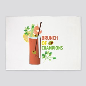 Brunch Of Champions 5'x7'Area Rug