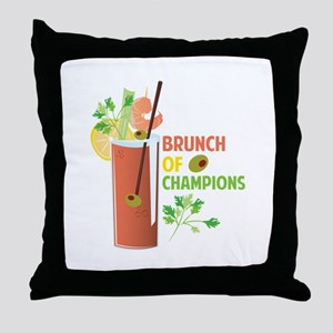 Brunch Of Champions Throw Pillow