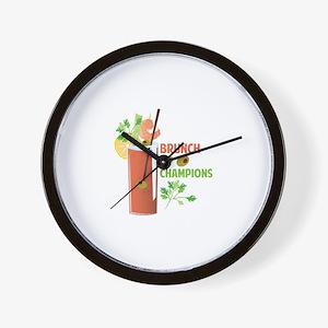 Brunch Of Champions Wall Clock