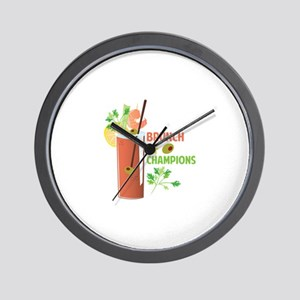 Brunch Of Champions Wall Clock