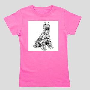 Schnauser Dog (Front) Ash Grey T-Shirt