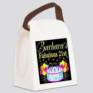 21ST PARTY Canvas Lunch Bag