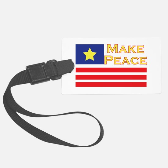 Make Peace Luggage Tag