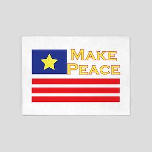 Make Peace 5'x7'Area Rug