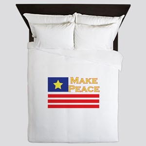 Make Peace Queen Duvet