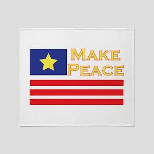 Make Peace Throw Blanket